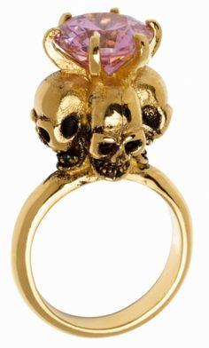 girly skull ring