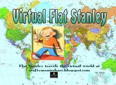 Virtual Flat Stanley/Sophia from Crafty Moms Share. Educational Activities For Kids, Preschool Education, Family Activities, Teacher Inspiration, Classroom Inspiration, School Fun, School Stuff, Flat Stanley, Summer Themes