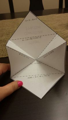 Infinity foldable -- perfect for practice in your INB!
