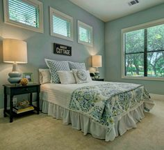 Country Cottage Bedrrom in Duck Egg Blue