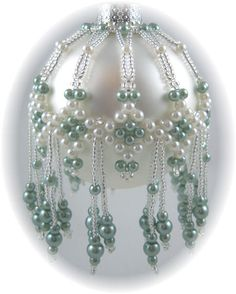 Free Beaded Ornament Cover Patterns | Pearlcicles Ornament Cover Kit Teal