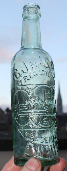 N12 C.J.Hasset Ennis Irish clear bottle | eBay