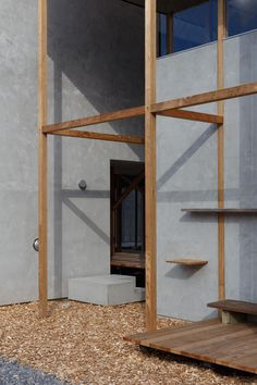 Image 21 of 46 from gallery of Dragon Court Village / Eureka. Photograph by Ookura Hideki Wood Architecture, Architecture Details, Best Architects, Severe Weather, Wooden Frames, Backdrops, Photos, Pictures, Gallery