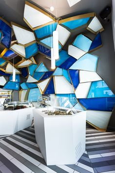 NÉMEAU FISHMONGER BY JEAN DE LESSARD, MONTRÉAL  A Fishmonger!  Wow - what a funky fish shop...