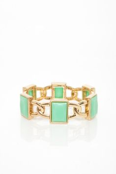 Jada Link Bracelet in Mint