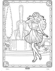 color alive barbie coloring page