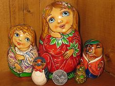 Russian Exclusive Nesting Doll Thumbelina Anderson Fairy Tale Artist Pokrovskaya   eBay