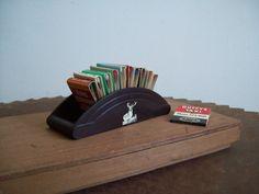 Antique bakelite matchbook holder display HARTFORD by LostTreeMan