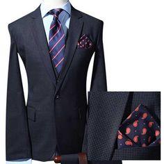 Black Pinstripe Mens Wedding Suits Uk Lounge Suit Dress Code Prom