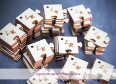 Wedding Day, Wedding Stuff, Puzzle, Place Card Holders, Creative, Angelo, Country, Wood, Shape