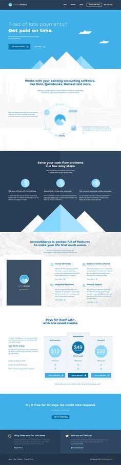 Unique Web Design, Invoice Sherpa #webdesign #design (http://www.pinterest.com/aldenchong/)