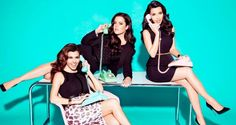 Kim, Kourtney, and Khloe Channel the 50s in Their Kardashian Kollection Spring Ad Campaign