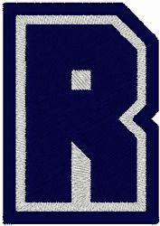 Varsity Font 2-Color Alphabet Embroidery Design