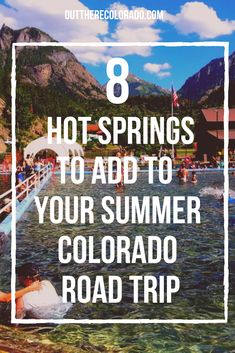 When it comes to experiencing Colorado's hot springs, we say the more the merrier! From an ultramodern spa facility to highlights from the Historic Hot Springs Loop, we've mapped out the ideal hot spring road trip for you and your group of friends. Road Trip To Colorado, Colorado Hiking, Colorado Mountains, Colorado Springs, New York Travel, Travel Usa, Dillon Colorado, Travel Oklahoma, Rocky Mountain National Park
