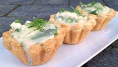 Chicken and Asparagus Tartlets. A Danish Spring Speciality.