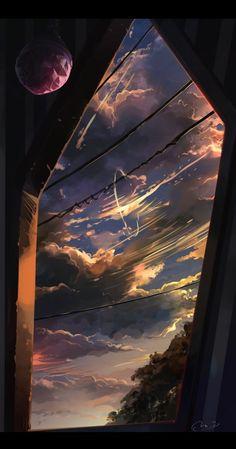 phone wallpaper sky Handy Hi - phonewallpaper Wallpaper Sky, Anime Scenery Wallpaper, Aesthetic Pastel Wallpaper, Nature Wallpaper, Aesthetic Wallpapers, Aesthetic Backgrounds, Sky Aesthetic, Aesthetic Anime, Japon Illustration
