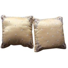 Silk Hand Embroidered Pillows - A Pair ($65) ❤ liked on Polyvore featuring home, home decor, throw pillows, pillows, set of 2 throw pillows, silk throw pillows, embroidered throw pillows, twin pack and silk accent pillows