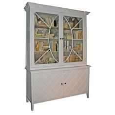 Gustavian Swedish Cabinet Bookcase White
