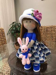 Undress me crochet doll. Hand made amigurumi with a mini