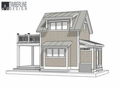 Rotating 360 degree image of the Cambridge timber frame house plan
