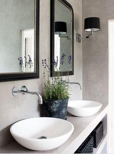 estilo nórdico decoración diseño decoración y diseño interiores nórdico blanco decoración mediterranea blanco azúl decoración en blanco deco. Bathroom Renos, Laundry In Bathroom, Bathroom Faucets, Concrete Bathroom, Bathroom Ideas, Bathroom Mirrors, Wall Faucet, Concrete Sink, Framed Mirrors