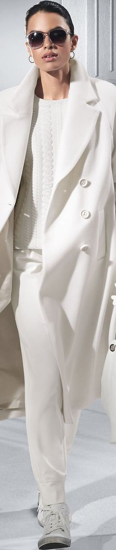 Madeleine Wool White Coat More