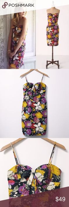 ⚜️ Anthropologie Moulinette Soeurs Dress Size 0 Gorgeous and RARE Moulinette Soeurs Tropica Dress! I am in love times two haha! This dress is new without its tags. It does have removable straps. Leave them attached or take them off! Definitely  a conversation piece!   Same/Next Day Shipping  Odor Free  Pet Free  No Trades Anthropologie Dresses
