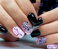 nail designs hansen chrome nail makeup nail art nailart nail art designs inc nail makeup inc nail makeup inc nail makeup harley gardens makeup design Dark Color Nails, Dark Nails, Nail Colors, Dark Nail Art, Cute Nails, Pretty Nails, Hair And Nails, My Nails, Nailart