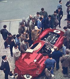 The Collins/ P Hill Ferrari 335S at Le Mans 1957, DNF engine failure on lap 2