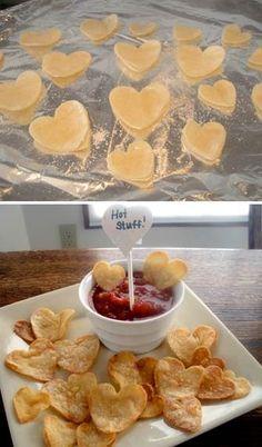 Corações rápidos de tortilhas