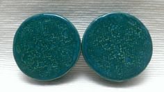 PLUGS GAUGES TUNNELS  1 1/2 38 mm Turquoise Moon by CagwinManchen