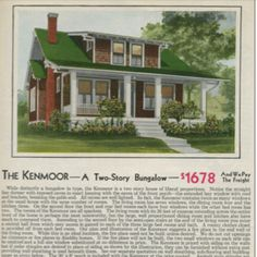 Original Craftsman Ad from Sears Catalog~A KIT House, You Bought it, and Put it Together (like a Barbie House)