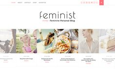 Free Feminist Blogger Template   Blogger Templates Gallery