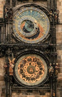 medieval + clockwork = real c. steamy goodness the astronomical clock in Prague.medieval + clockwork = real c. steamy goodness the astronomical clock in Prague. Unique Clocks, Cool Clocks, Places Around The World, Around The Worlds, Prague Astronomical Clock, Europe Centrale, Voyager Loin, Old Town Square, As Time Goes By