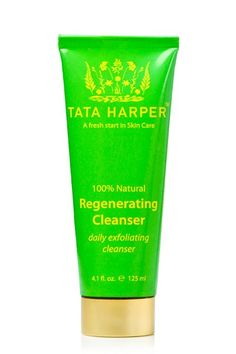 Tata Harper's Regenerating Cleanser: more an exfoliator than a daily cleanser I use it in targeted areas that need exfoliation in conjunction with my Clarisonic. Works wonders. I then follow with Kiehl's 'Powerful-Strength' Line-Reducing Concentrate. Awesome!