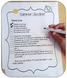 How to Curb Screen Time Now! A summer checklist printable for kids. http://peasinapodlessons.com/curb-screen-time-now/