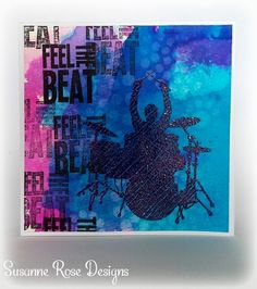 Visible Image stamps - Feel The Beat - Drummer stamp - Susanne Rose