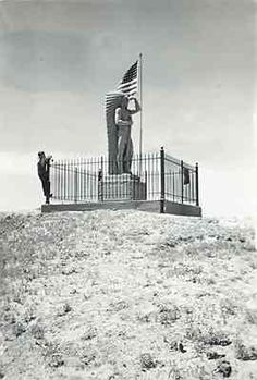 Sioux Lookout near North Platte, Nebraska - I remember as a child climbing the hill to see this statue.