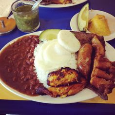 Colombian food. Bandeja Paisa