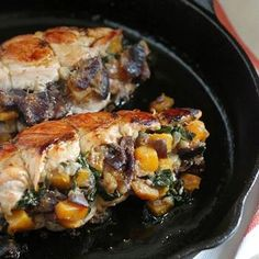 Stuffed Turkey Breasts with Butternut Squash and Figs Recipe