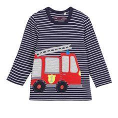 Lulukohs Children boys t shirts spring 2017 baby girl t shirts firecar baby boy clothes long sleeve brand t -shirt for boys