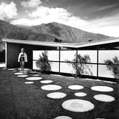 Vintage, Alexander built butterfly roof home, Palm Springs, California