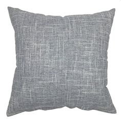 YOUR SMILE Pure Gray Square Decorative Throw Pillows Case Cushion Covers Shell Cotton Linen Blend 18 X 18 Inches