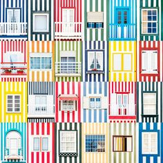 Windows of the World by Andre Vicente Goncalves | Pattern | Patroon  | Wanderlust