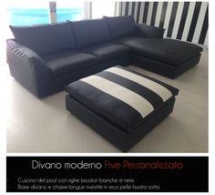 Divano moderno Five personalizzato nei dettagli - in vendita da Tino Mariani.