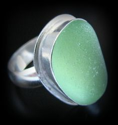 Sea Glass Jewelry Sterling Silver Ring  Your by WestCoastSeaGlass, $148.00