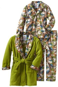 Baby Bunz Boys 2-7 Dino Camo 3 Piece Robe And « Clothing Impulse