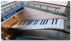 Insanely Huge Musical Instrument. Piano staircase that users can play.