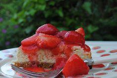 Taart en Zoet!: Vanille-limoencheesecake met gemarineerde aardbeie...