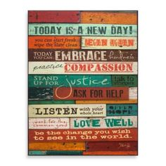 """A New Day"" Wall Art - BedBathandBeyond.com"